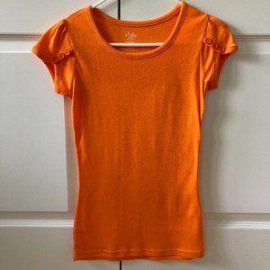Dots Orange Tee Shirt Size Small Jr. NWOT